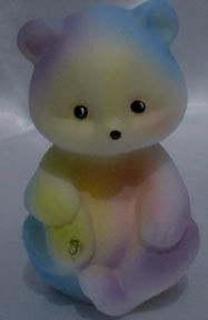 Fenton Tie Dye Bear Carolyns Collectibles