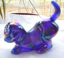 Fenton Vintage Carnival Glass Dog