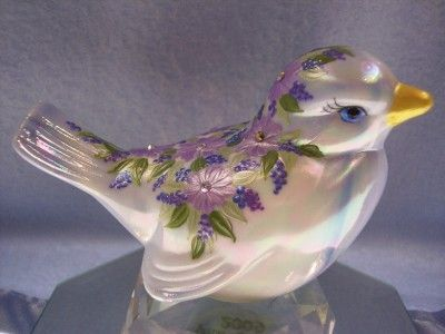 Fenton Art Glass Bird OOAK