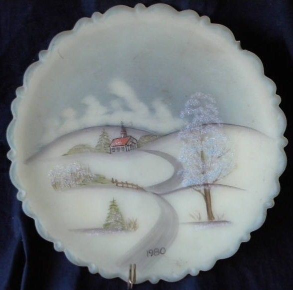 Fenton decorator plate 1980