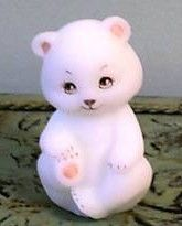 Fenton hand painted teddy bear figurine