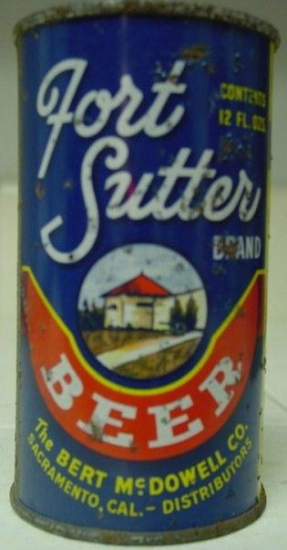 Fort Sutter Grace Bros Beer Can Flat Top