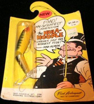 Fred Arbogast Vintage Lure Hula Hoople in original Packaging