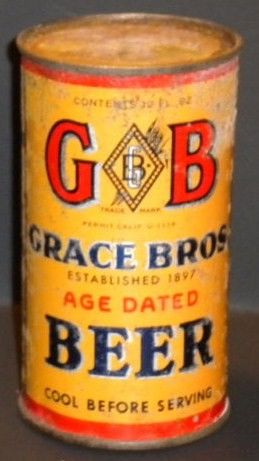 Old GB Grace Brothers Brewing Flat Top Can