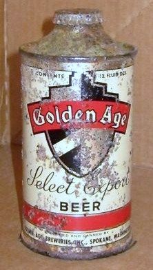Golden Age cone Top Beer Can/Washington