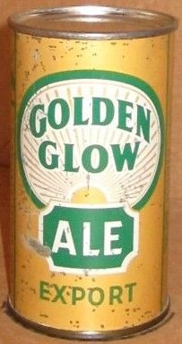 Golden Glow Ale Flat Top Beer Can