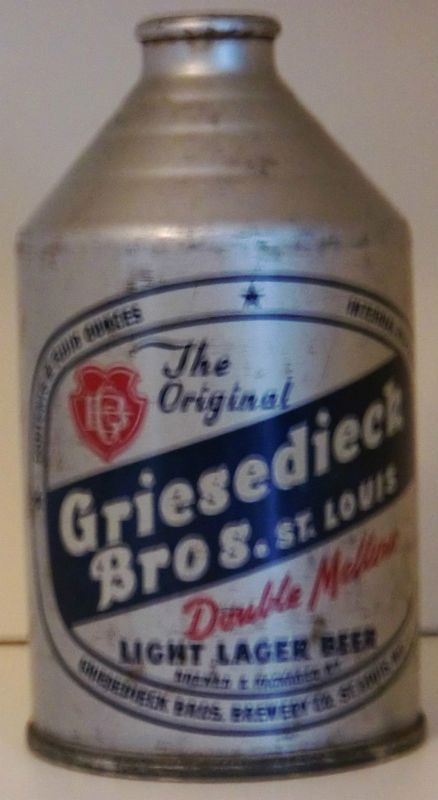 Griesedieck Beer Cone Top Can Crowntainer