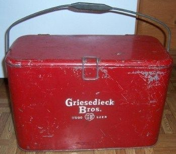 Griesedieck Bros GB Beer 1940s-1950s Metal Ice Chest