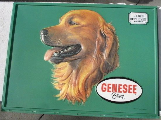 Genesee Golden Retriever Beer Sign