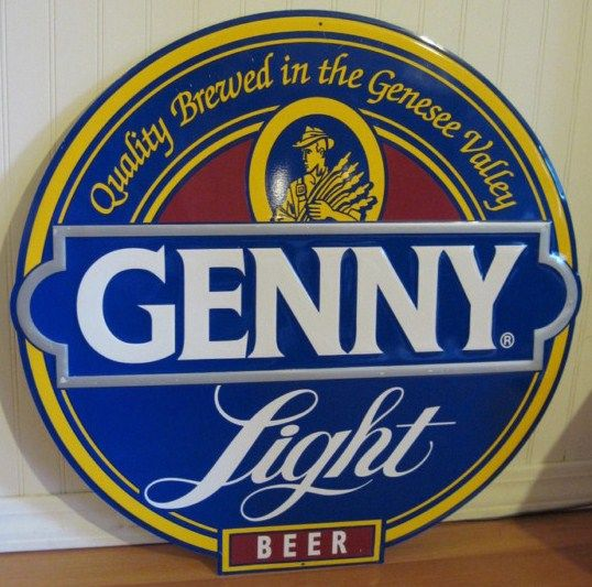 Genny Light Vintage Metal Tin Sign