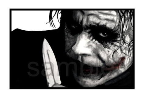 Giclee Collector Print on Canvas Heath Ledger