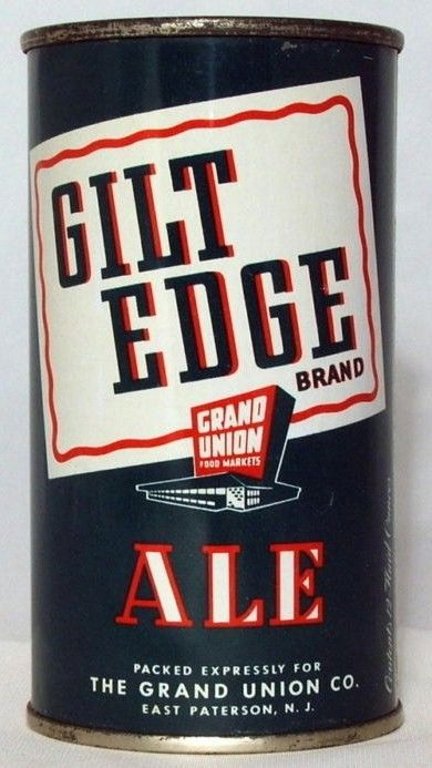 Gilt Edge Ale Flat Top Beer Can