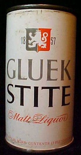 Gluek Malk Liquor Gray Lion Flattop