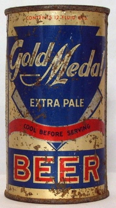 Gold Medal IRTP Flat Top Beer Can/Grace Brothers