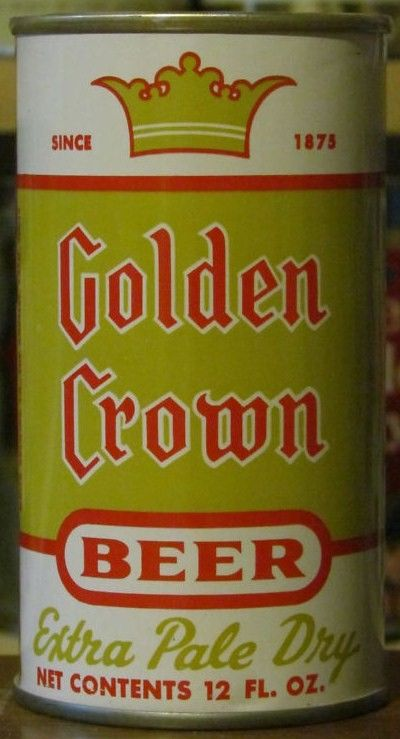 Golden Crown Beer Can Pull Tab 12oz Maier, LA
