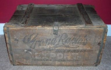 Grand Rapids Brewing Company Wood Beer Crate