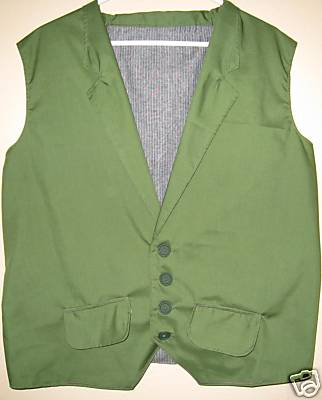 Green Joker Vest with Pockets