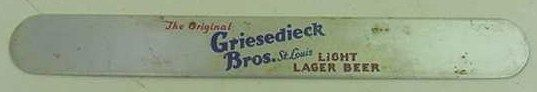 Griesedieck Bros Light Lager Beer Foam Scraper