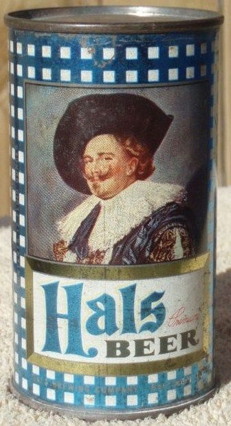 Hal's Flat Top Metallic Beer Can/Graphic Design