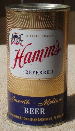 Hamm's Preferred Flat Top Beer Can Shiny Starburst