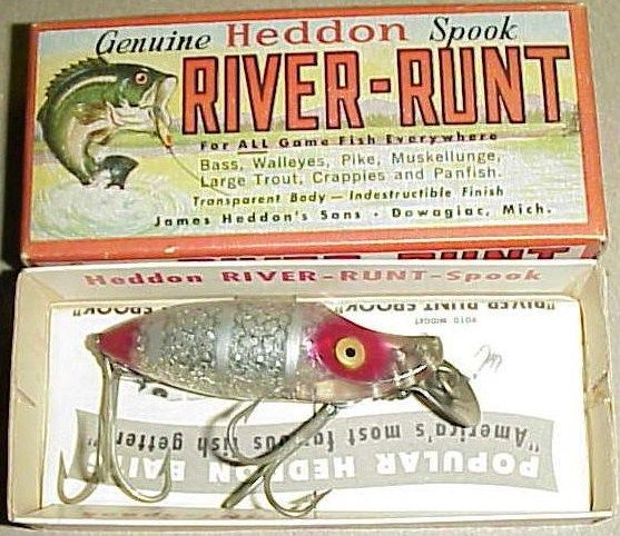 Heddon River Runt Spook Sinker Tuff Color/Red-Silver Sparkle
