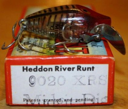 Heddon Vintage Fishing Lure Midget Digit in Box
