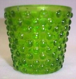 Fenton Hobnail Springtime Green Salt/Toothpic Holder