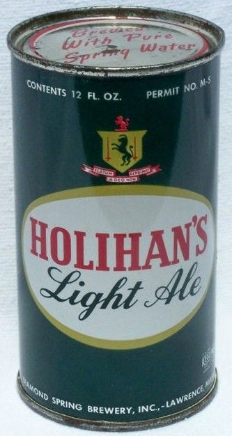 Holihan's Light Ale Flat Top Beer Can Lawrence, MA