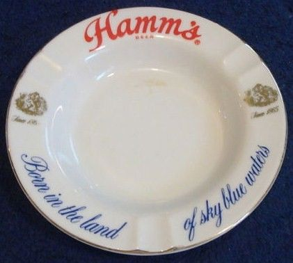 Hamm's Beer Glass Barware Ashtray