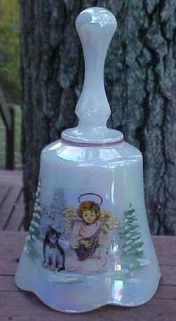 Fenton Hand Painted Christmas Bell