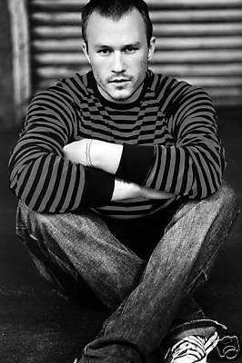 Heath Ledger Canvas Prink Black & White Unstretched