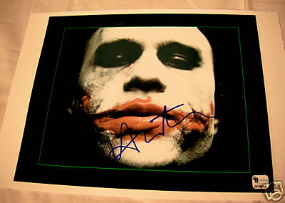 Heath Ledger Joker Signature Reprint Very Rare