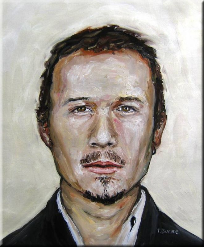 Heath Ledger Oil Painting Portrait Face