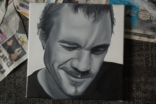 Heath Ledger Oil on Canvas