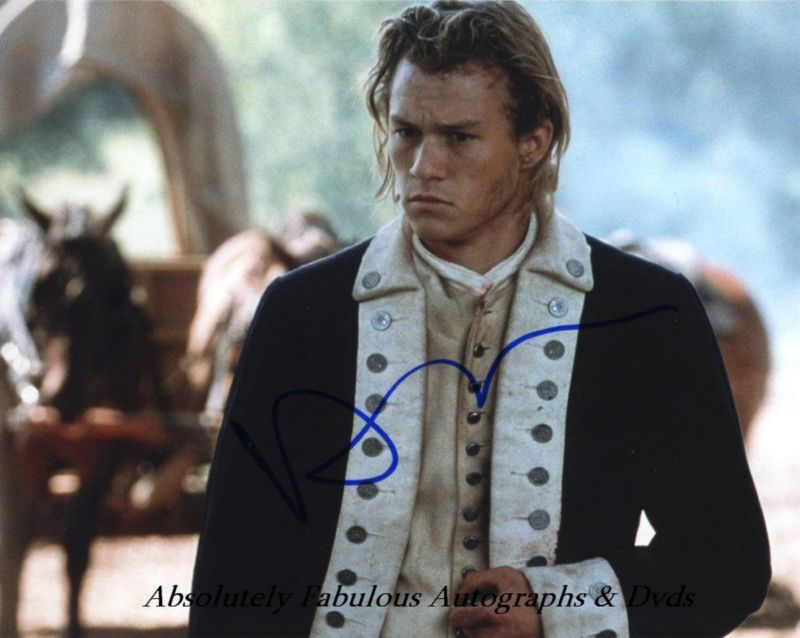 Heath Ledger Signed Autograph The Patriot Certificate_of authenticity