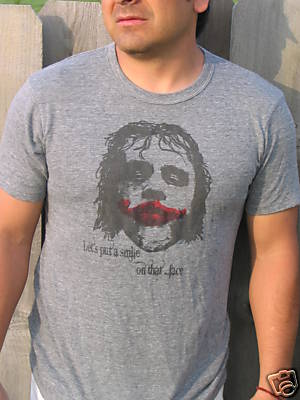 Heath Ledger Soft Tee Shirt Gray
