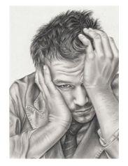Heath Ledger Tribute T-Shirt Serious Face