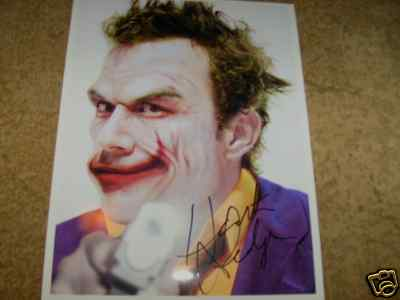Heath Ledger signed 8 x 10 Photo with Certificate of Authenticity