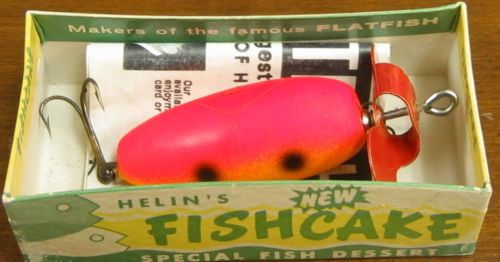 Helin Fishcake Red-Yellow Fluorescent w/Box-Paperwork