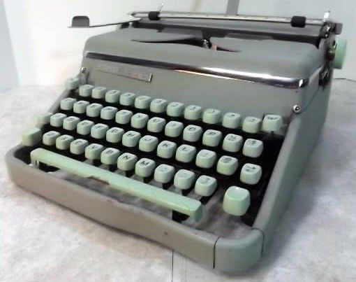 Hermes Model 2000 Mint Green Typewriter
