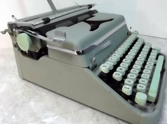 Hermes Model 2000 Typewriter Side View
