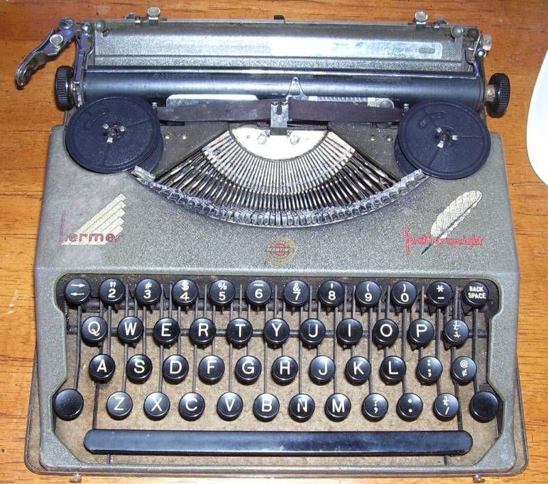 Hermes Featherweight Typewriter
