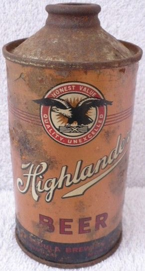 Highlander Beer Cone Top Can