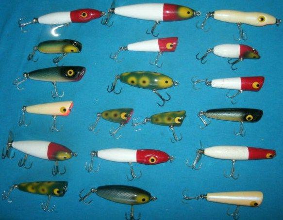 Large Lot of 19 Luhr Jensen Wood Vintage Fishing Lures