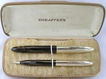 Huge Sheaffer Crest Oversize Lifetime Fountain Pen Set Vacumatic