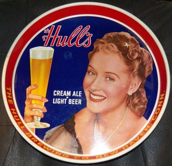 Hulls Cream Ale Light Beer Vintage Tray