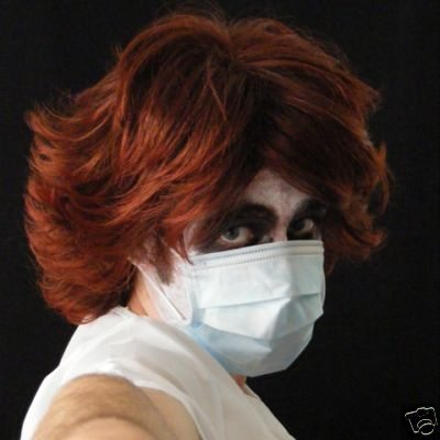 Human Hair Red Joker Nurse Wig