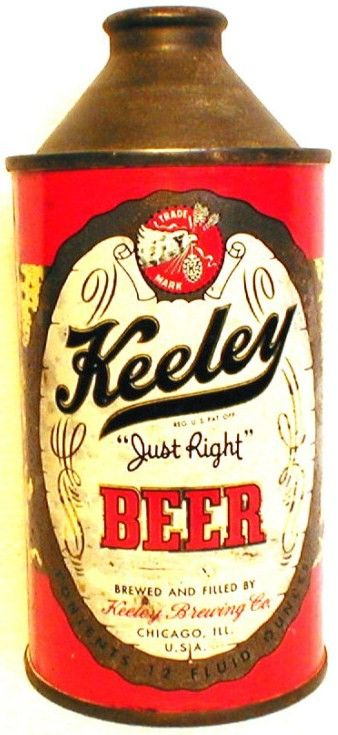 IRTP Keeley Brewing Co Cone Top Can Chicago IL