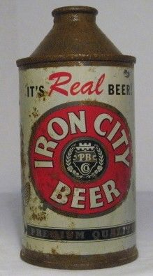 Iron City Cone Top Beer Can/Pgh, PA