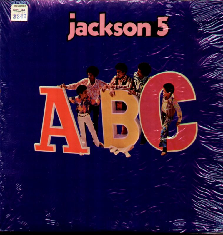 Jackson 5 ABC Original Motown LP w/Shrink Wrap and Sticker